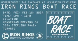 Tap Takeover at Henderson Featuring : Boat Race